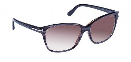 Tom Ford Damen Sonnenbrille »Dana FT0432«, grau, 20F - grau/braun